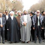 تصاویر/ حضور روحانیون و طلاب یزد در راهپیمایی در محکومیت اغتشاشات اخیر