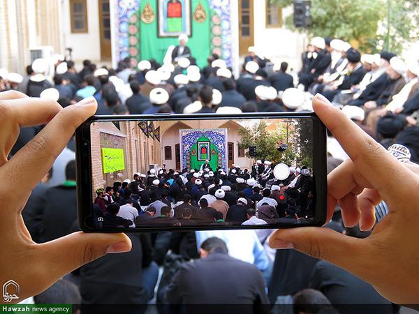 تصاویر/ حضور آیت الله علیدوست در جمع طلاب مدارس علمیه یزد