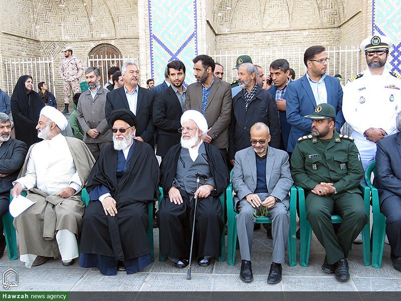 تصاویر/ حضور طلاب و روحانیون یزدی در راهپیمایی ۱۳ آبان