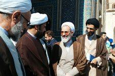 تصاویر بازدید آیت الله اعرافی از مسجد جامع یزد