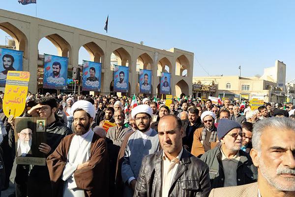 تصاویر/ تجمع گرامیداشت حماسه ماندگار ۹ دی در یزد