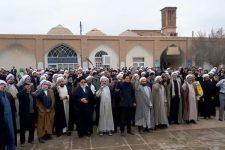 تجمع ضدآمريكايي حوزویان یزد در پي شهادت سردار سليماني