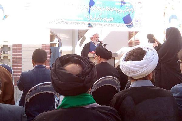 افتتاح فاز اول مدرسه علميه امام صادق(ع) شهرستان مهریز