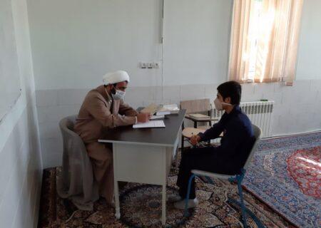 مصاحبه طرح میثاق طلاب مدرسه علمیه حضرت مهدی (عج) بهاباد برگزار شد