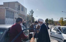 توزیع بسته های بهداشتی، فرهنگی توسط طلاب جهادی