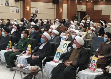گزارش تصویری از مراسم گرامیداشت شهدای طلاب و روحانی استان یزد