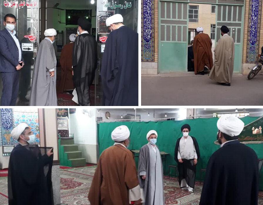 بازدید معاون تبلیغ از مساجد منطقه صدرآباد