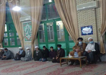 مراسم جشن میلاد حضرت زهرا(س) و ایام الله دهه فجر در مدرسه علمیه امام صادق (ع)بافق برگزار شد