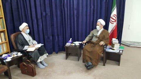 دیدار مدیر حوزه علمیه استان یزد با آیت الله اعرافی