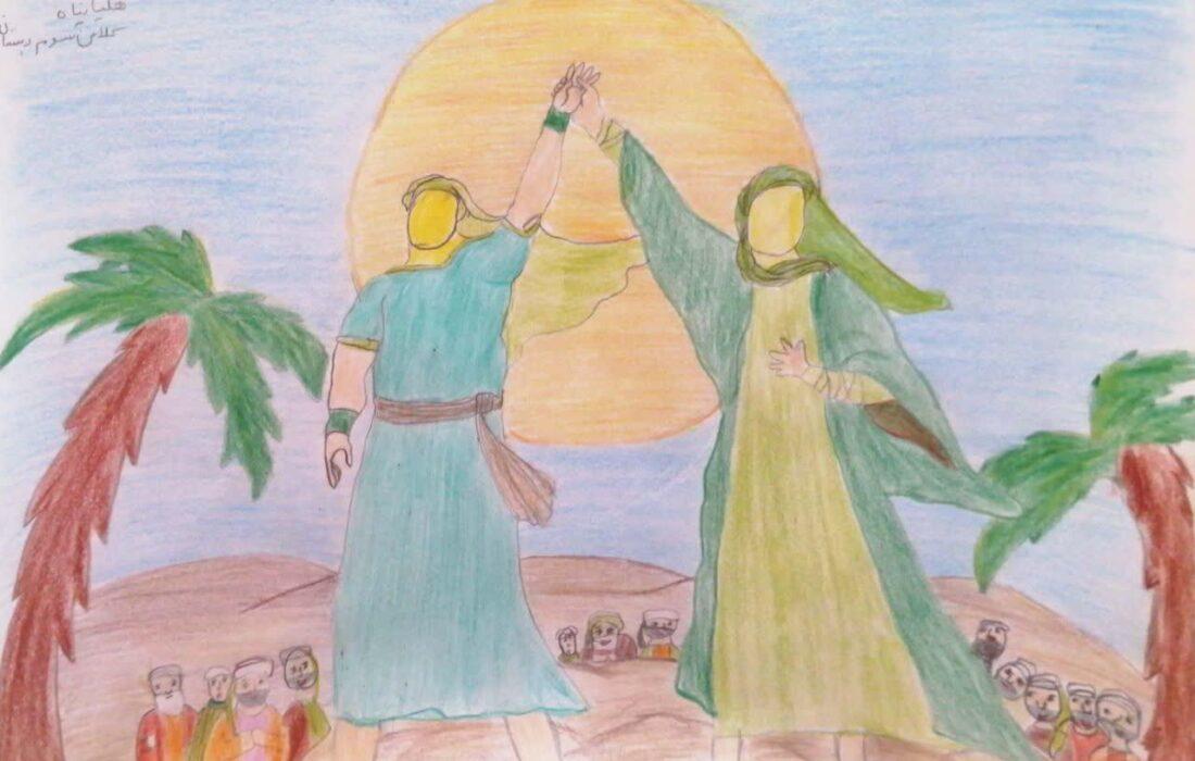 نقاشی های ارسالی به مسابقه بزرگ غدیرخم